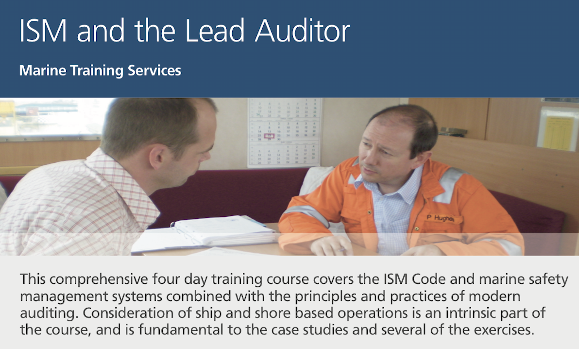 ISM and the Lead Auditor Training