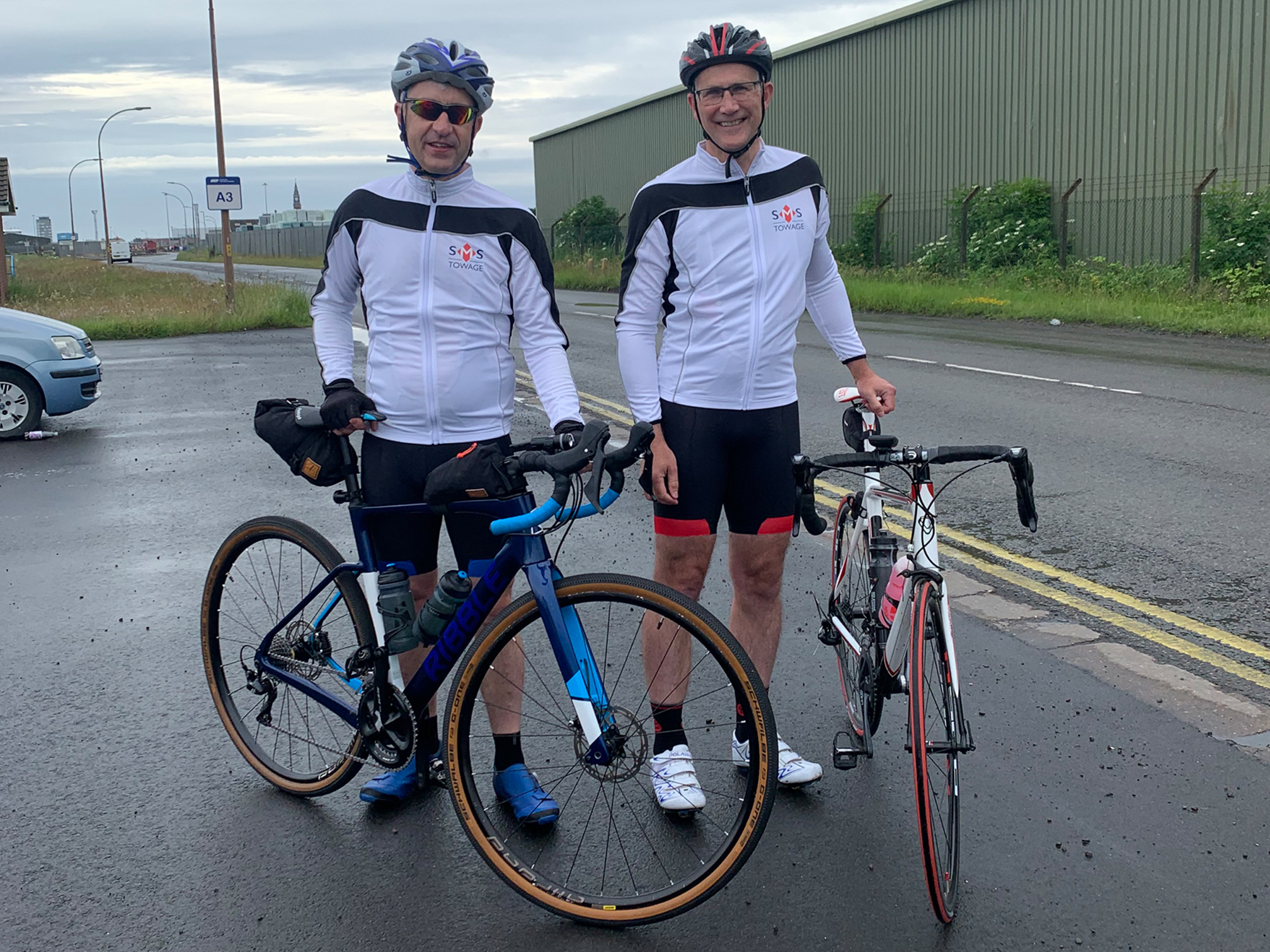 SMS cyclists on the ICS Charity Ride