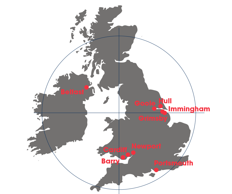 SMS Towage Harbour Locations