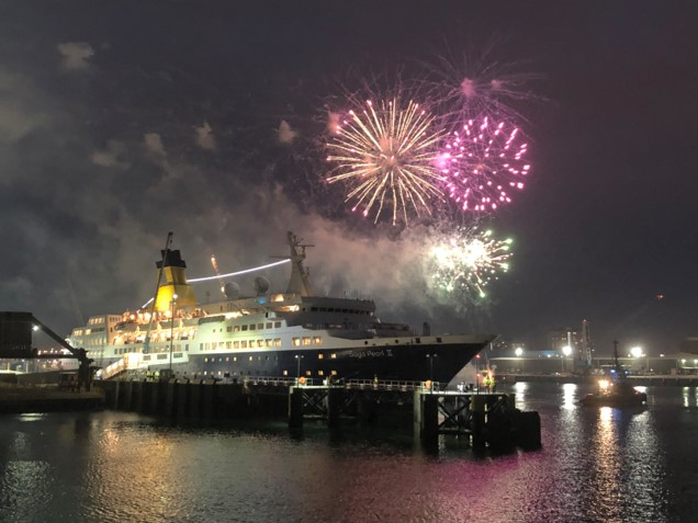 Portsmouth International Port's Farewell Fireworks for Saga Pearl II